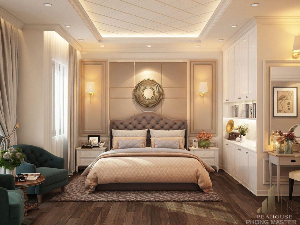 nội thất biệt thự 349m2 anh tâm phòng ngủ master 12
