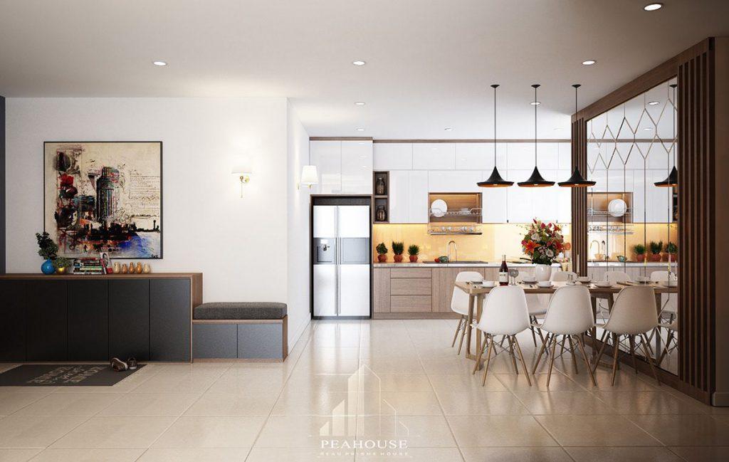 thiết kế nội thất căn hộ rivirea point 120m2 chị vân phòng bếp 06