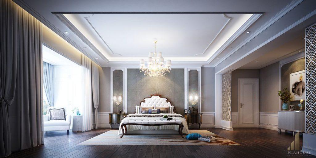 nội thất phòng ngủ 2 biệt thự rạng đông