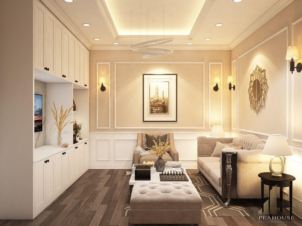 thiết kế nội thất biệt thự 487m2 anh quý phòng khách 06