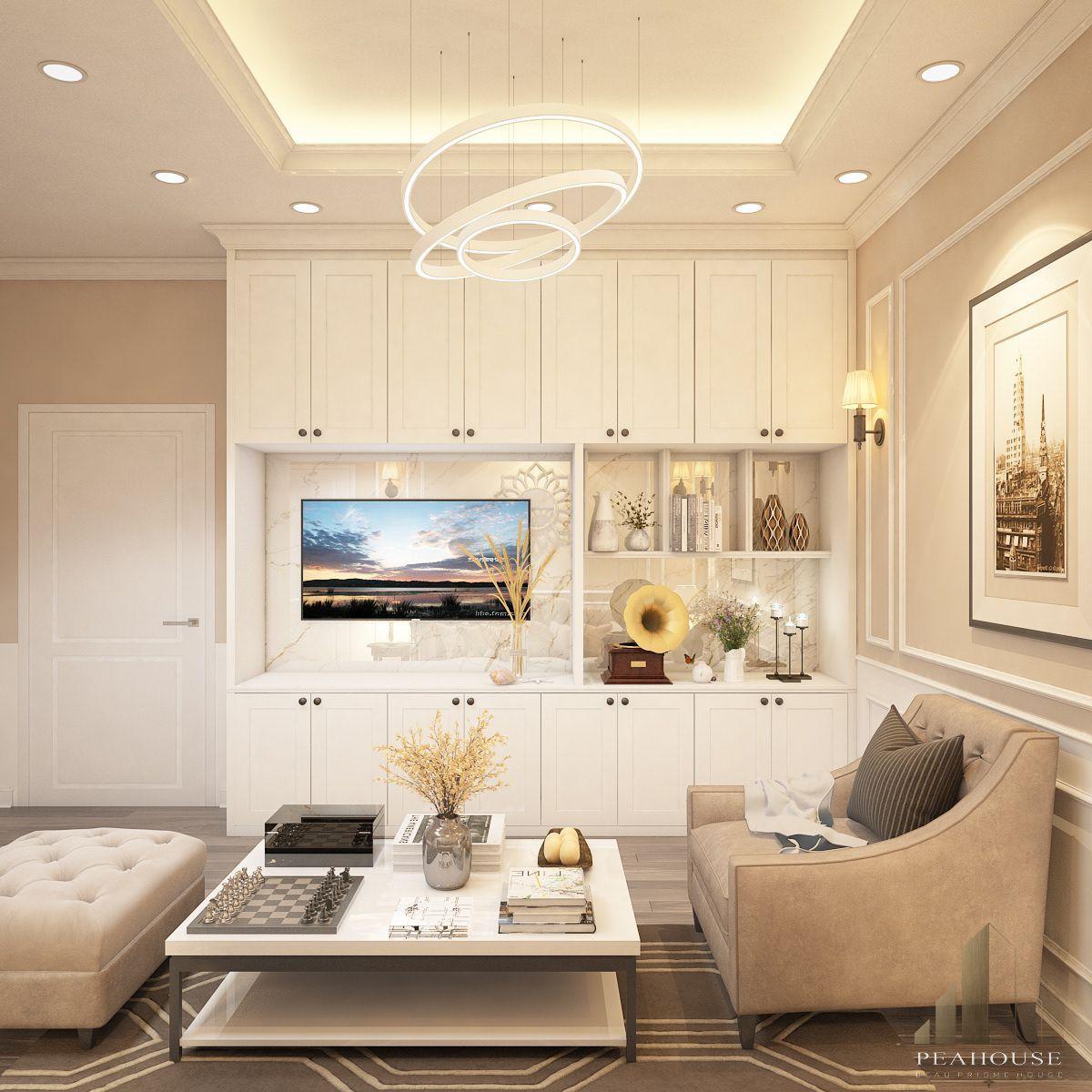 thiết kế nội thất biệt thự 487m2 anh quý phòng khách 20