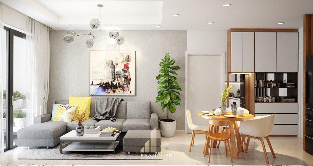 thiết kế nội thất căn hộ botanica 70m2 anh quang phòng khách 03