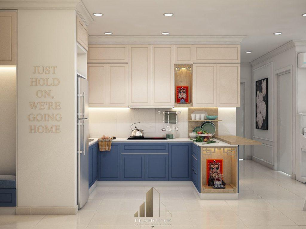 thiết kế nội thất căn hộ gold view 69m2 chị ngọc phòng bếp 04