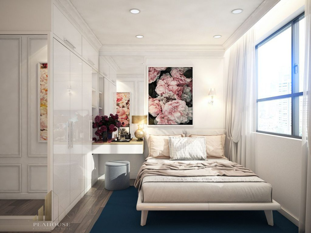thiết kế nội thất căn hộ gold view 69m2 chị ngọc phòng ngủ 07