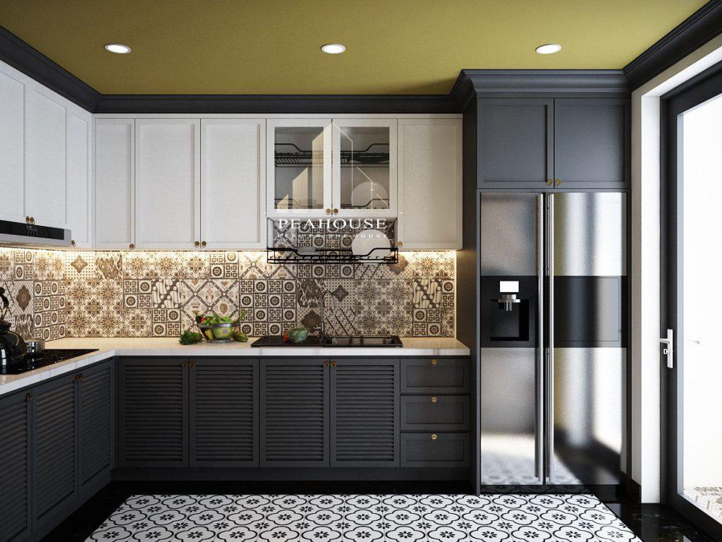 thiết kế nội thất căn hộ river gate phòng bếp 04