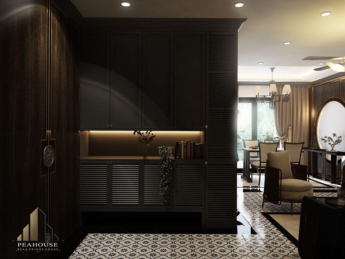 thiết kế nội thất căn hộ river gate phòng khách 07