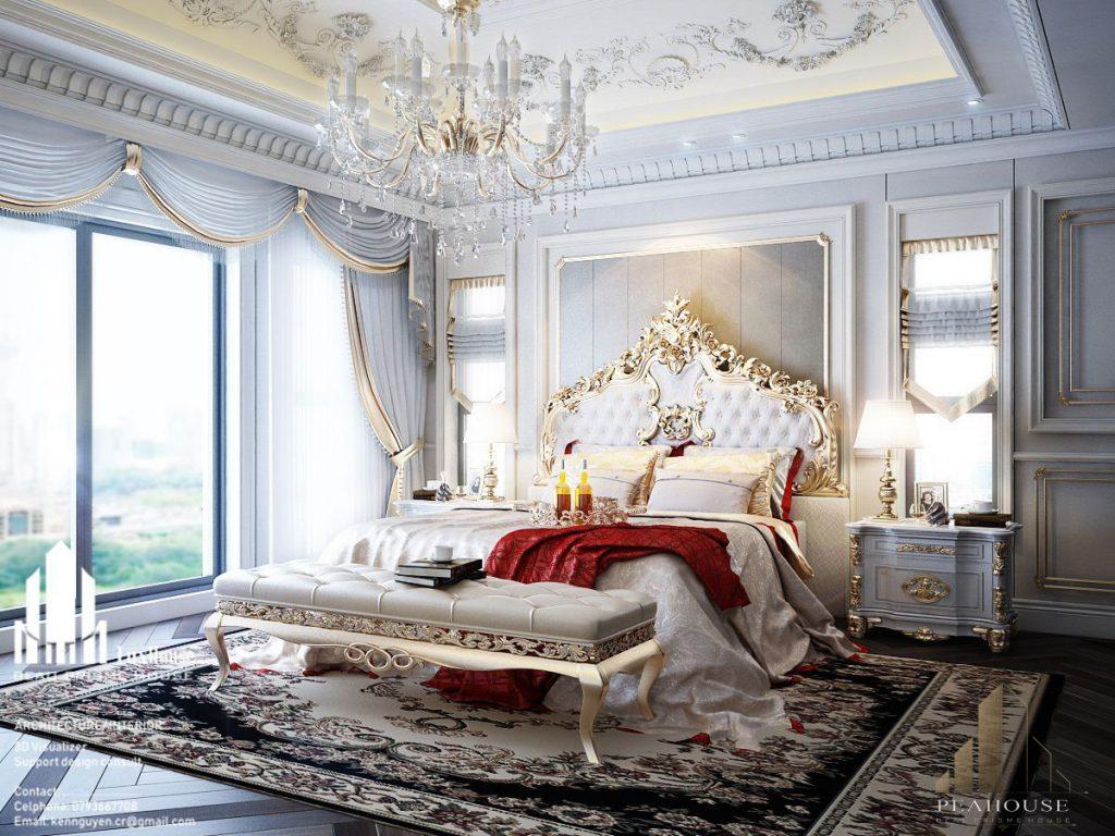 thiết kế nội thất phòng ngủ 48m2 lai châu 03
